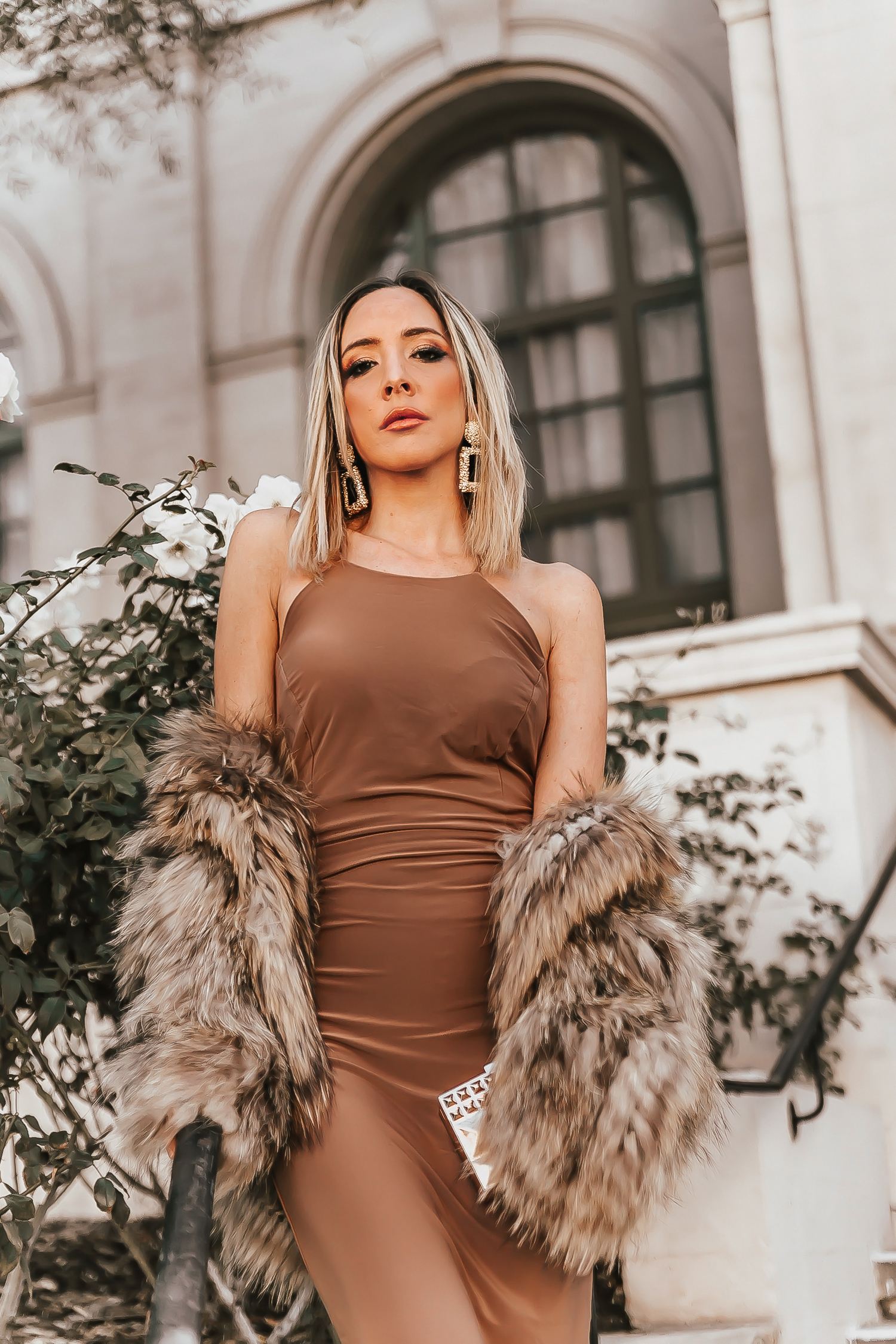 Holiday Look Golden Babe Collection Elegant Taupe Dress